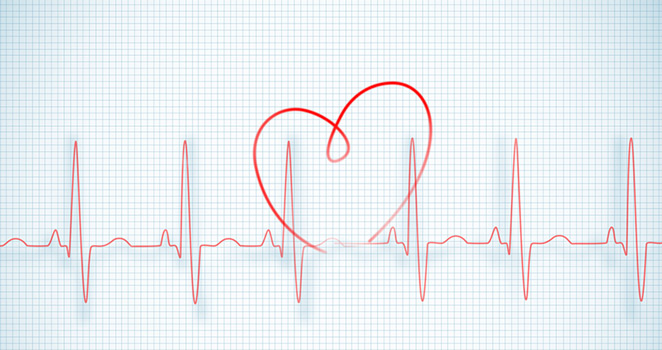 Illustration of heart beat waves