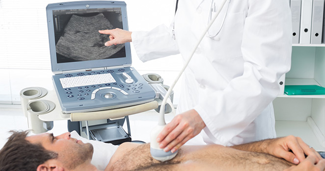 man getting an ultrasound