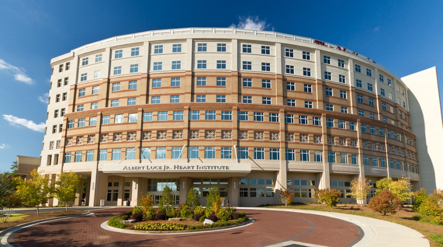 Outside front view of the Albert Juce Jr Heart Institute