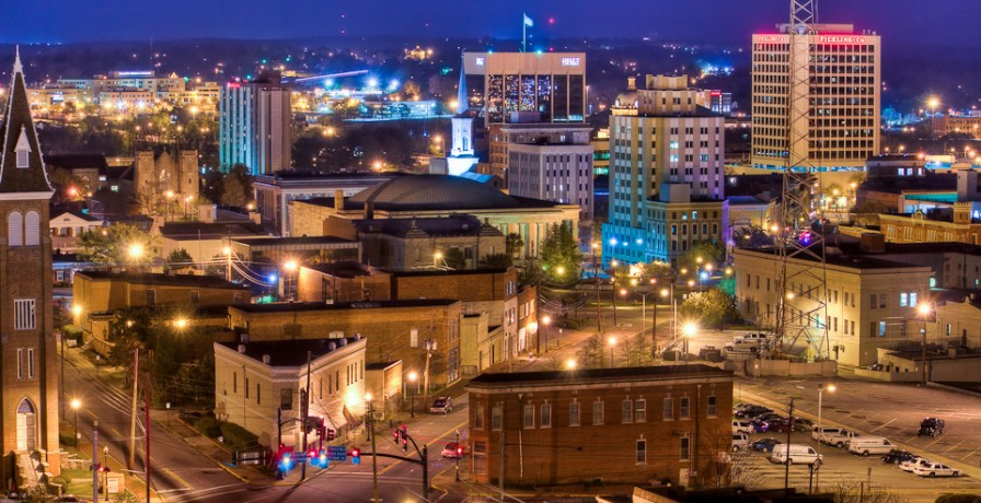 Downtown Macon at Night - Photo by William Haun, �©2011