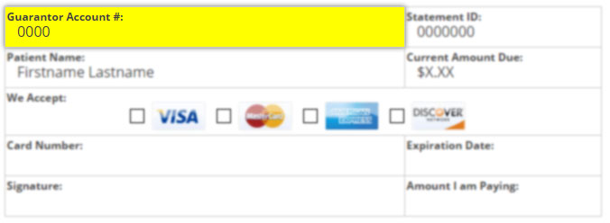 Sample of Online Payment Form