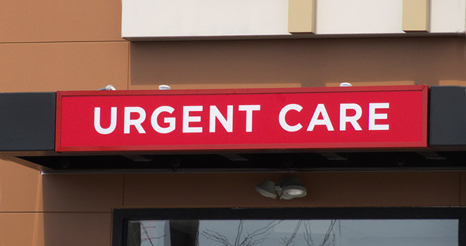 Urgent Care red sign