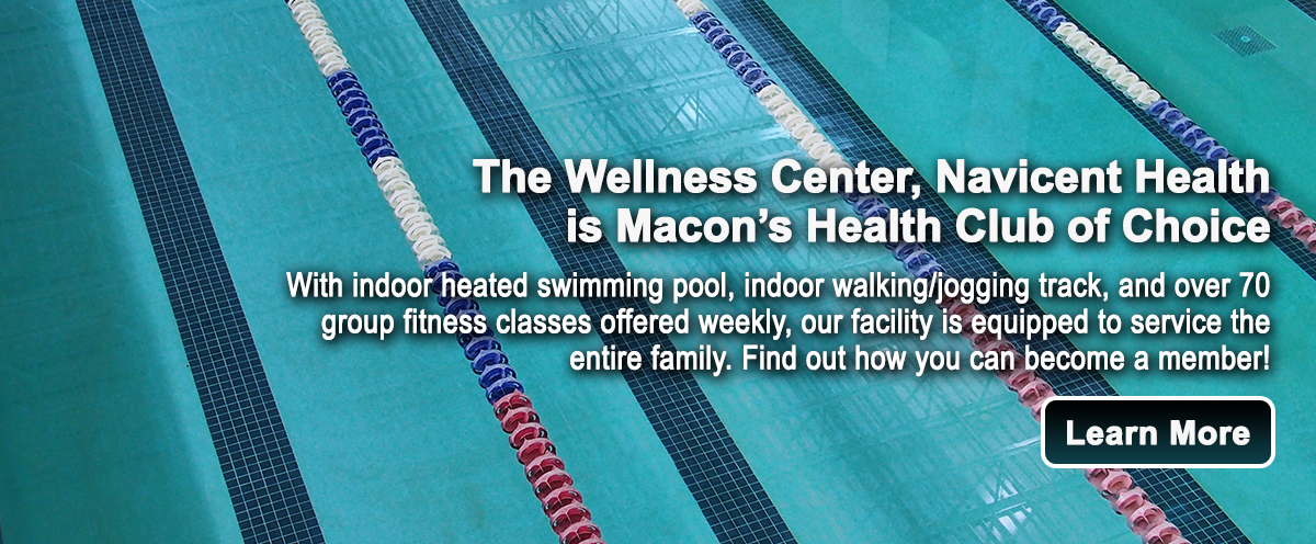 Image of an olympic style pool with text describing the facility